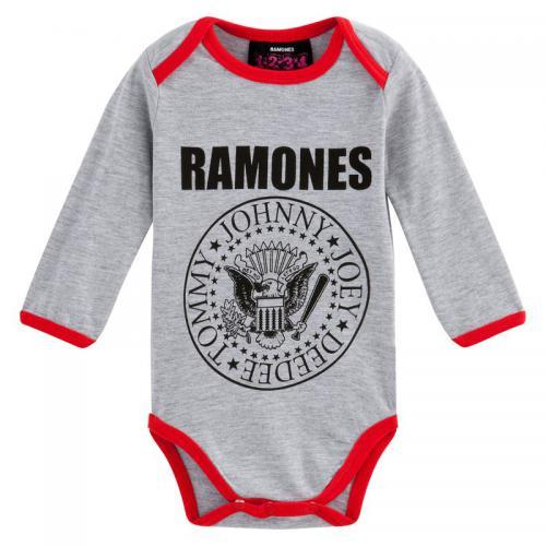 Universal Music - Body bébé enfant Bowie à manches longues Universal - Gris  - Bodies bébé 14739d839f4