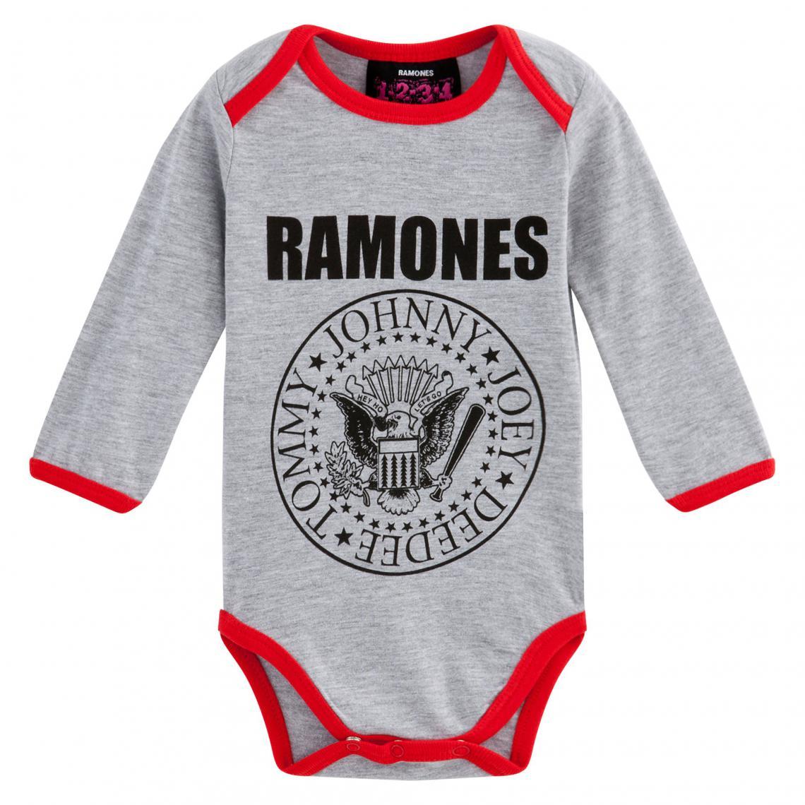 Body bébé enfant Bowie à manches longues Universal - Gris Universal Music  Enfant af7cd3a5188