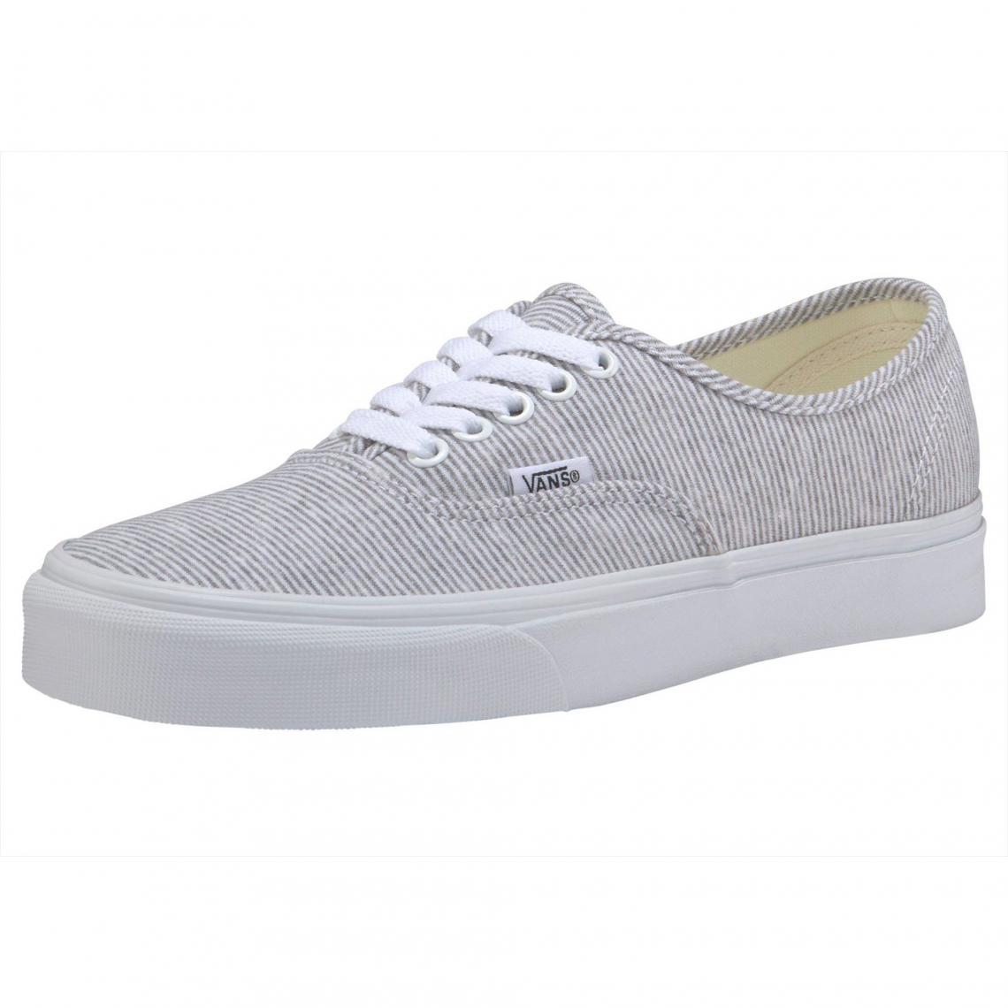 579d05c0492 Chaussure en toile Vans Authentic Jersey homme - Gris - Blanc Vans Homme