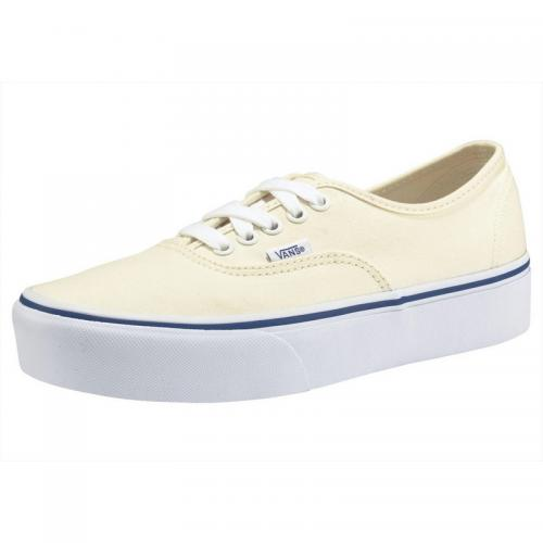 Vans - Baskets homme en toile Vans Authentic  Platform en toile - Blanc Mat - Baskets