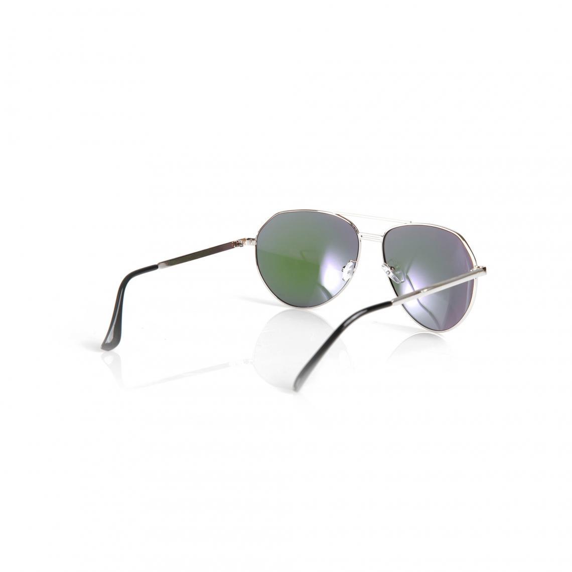 Lunettes de soleil monture métallique argentée style aviateur femme -  argenté e698a982310c