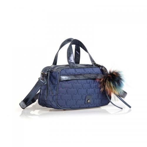 95a781c37f Venca - Sac à main anses et bandoulière ajustable femme - Bleu Marine - Sac