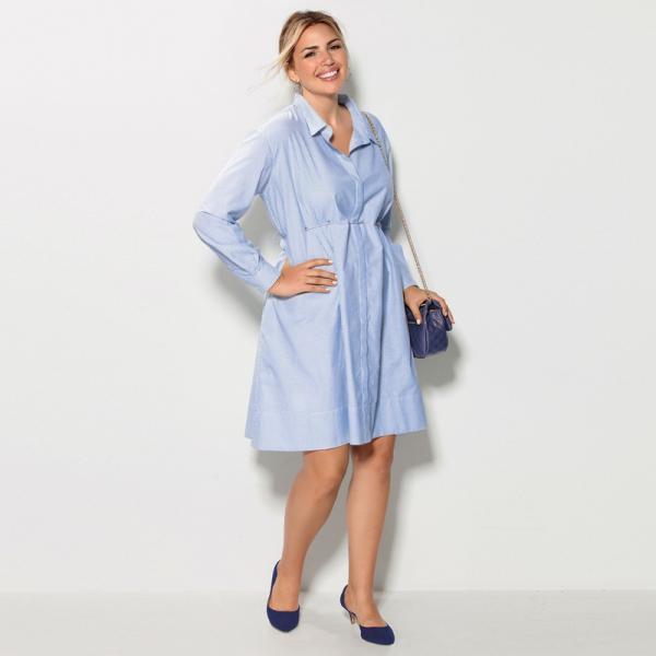 lacer dans le rapport qualité prix revendeur Robe chemise rayée cordon de serrage manches longues grandes tailles femme  - Imprimé