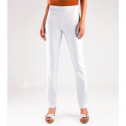 f8ea93c1384f0 Venca - Pantalon taille haute ventre plat Venca femme - Blanc - Pantalon  droit