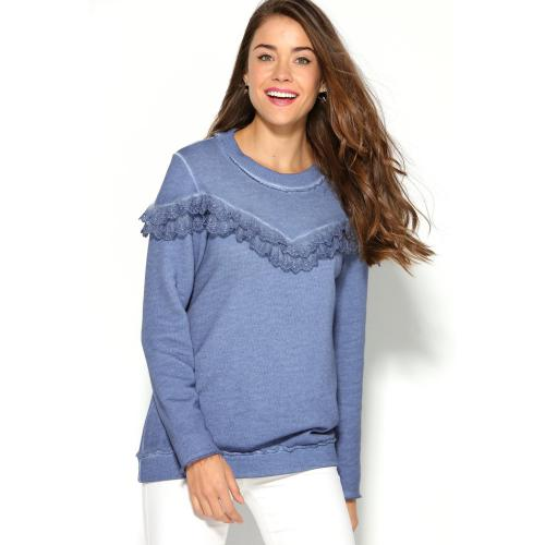 Venca - SWEAT MANCHES LONGUES DOUBLE V - Sweat femme