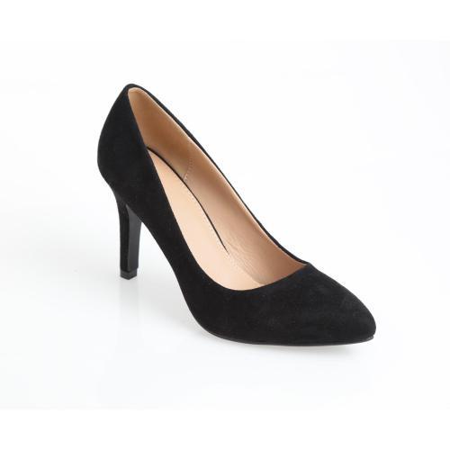 official photos 33c6a a6f9f Venca - Escarpins à talons recouverts femme et bouts pointus Venca - Noir - Chaussures  femme