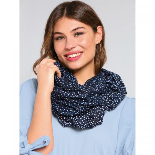 Venca - Foulard rectangulaire imprimé femme - Bleu - Foulards femme e35b25dab7e