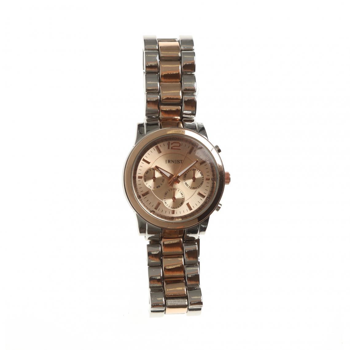 Montre analogique bracelet métallique - 3 suisses - Modalova