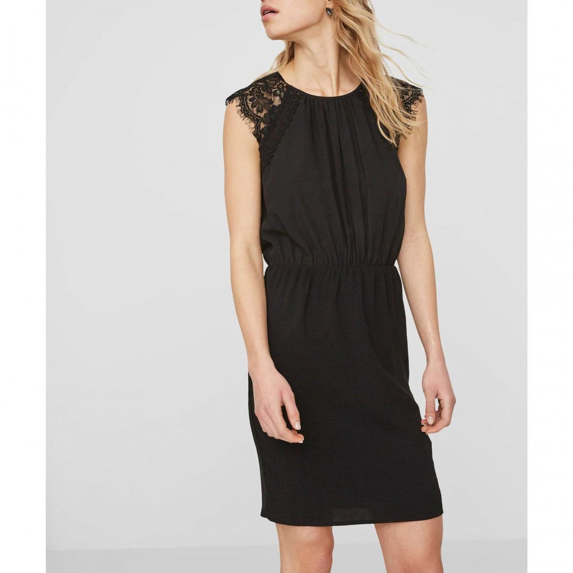 fc60322e4ba Robe courte bi-matière femme Vero Moda - Noir Vero Moda Femme