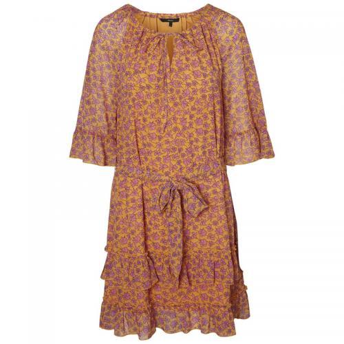 20a08d4d3ac Vero Moda - Robe courte à volants femme Vero Moda - Imprimé Abricot - Robe  Imprimé