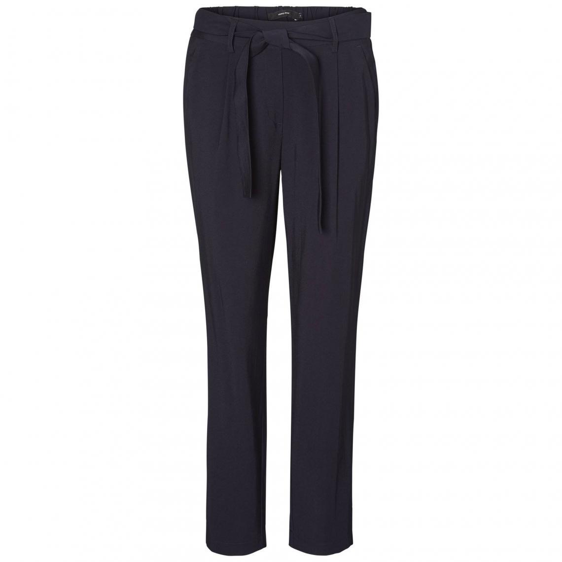cb01f5f95409 Pantalon fluide femme Vero Moda - Bleu Marine   3Suisses