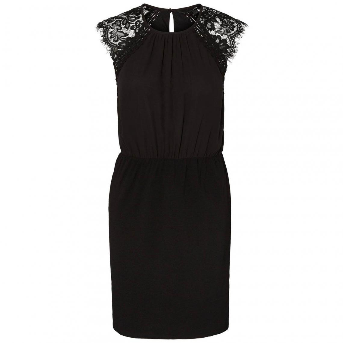 97afdc5e885 Robe courte bi-matière femme Vero Moda - Noir Vero Moda
