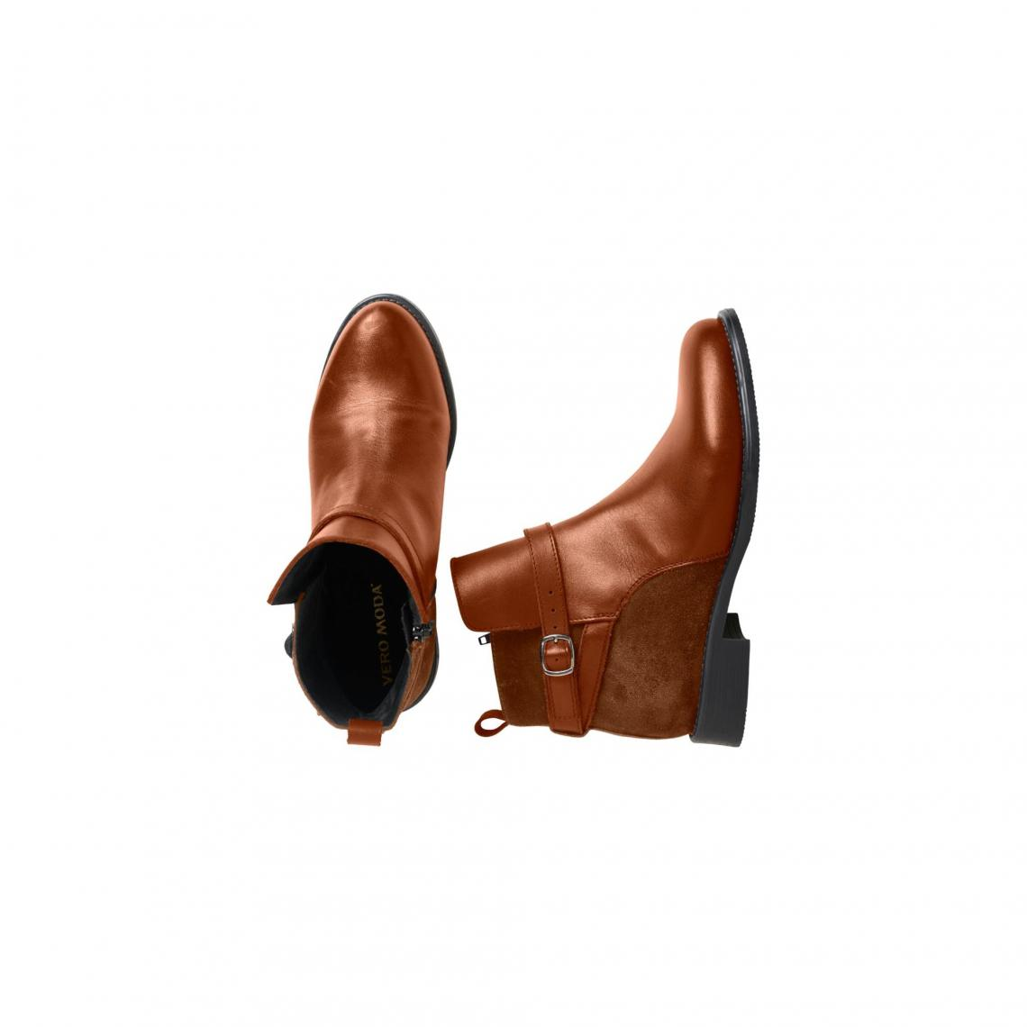 eb26853f58b1 Boots femme Juliette de Vero Moda - Cognac | 3 SUISSES