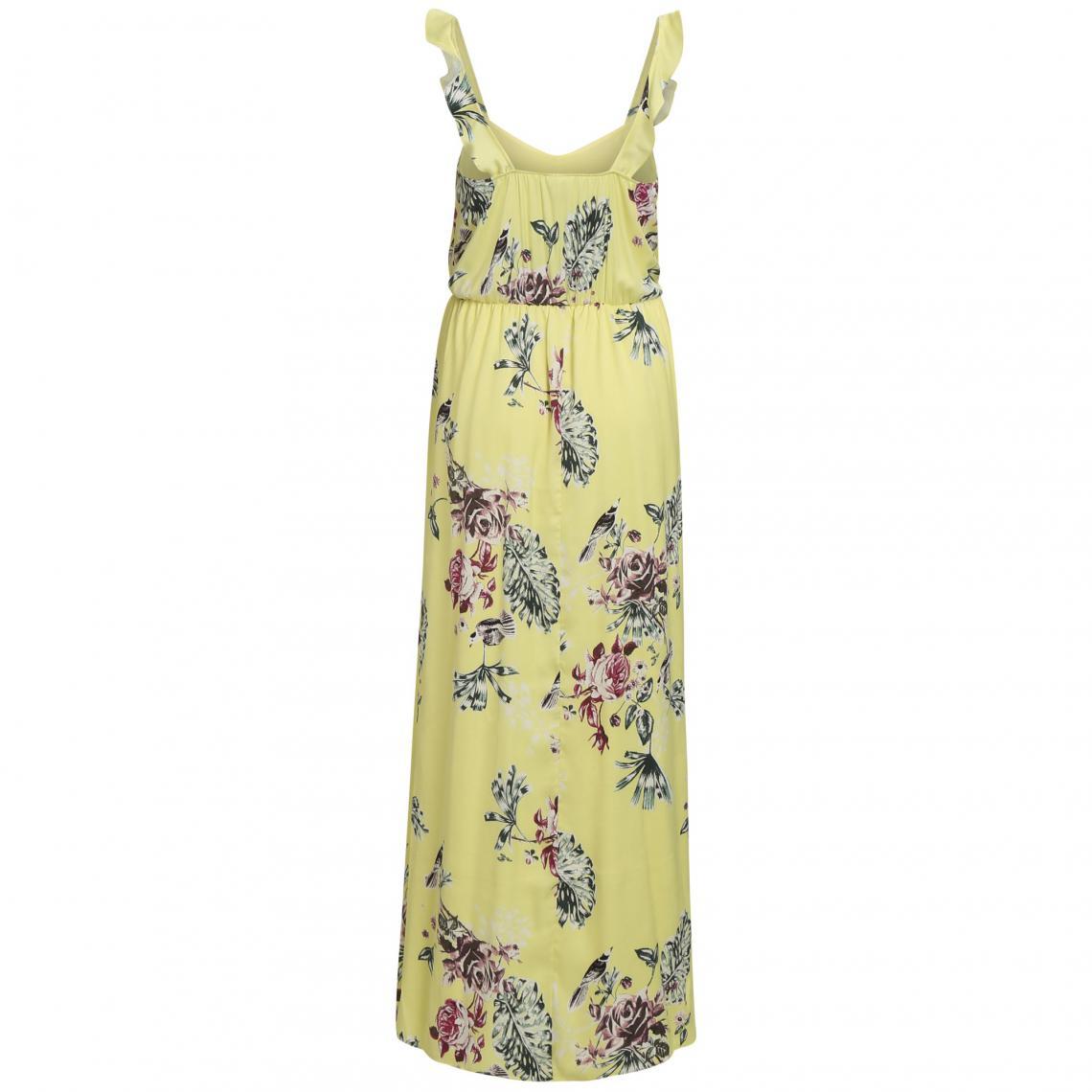 Robe longue à bretelles femme Vila - Jaune   3Suisses 197b57b405a6