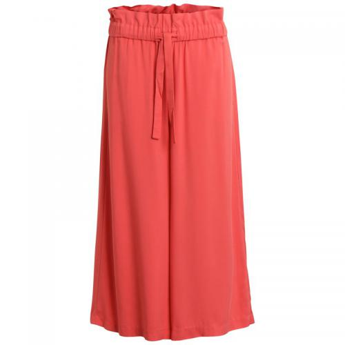 Vila - Pantalon large 7/8 femme Vila - Orange - Vila