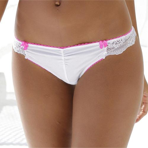 Vivance - String en microfibre et dentelle Vivance Active - Blanc - Tangas, strings