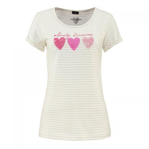 Vivance - T-shirt de nuit manches courtes encolure ronde femme Vivance Dreams - Multicolore - Pyjamas femme