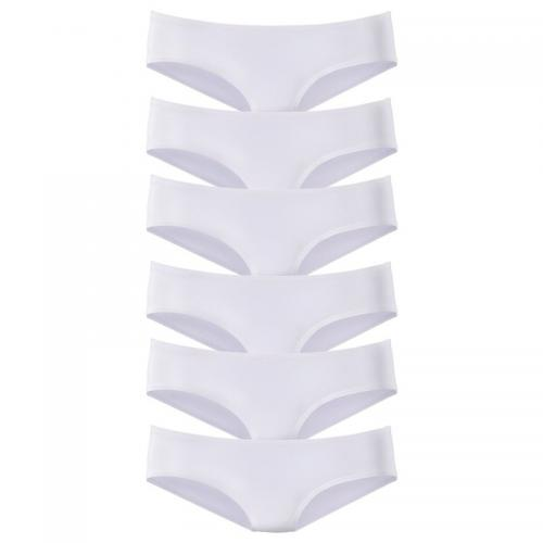 Vivance - Lot de 6 slips taille basse en microfibre coton stretch femme Vivance - Blanc - Promotions Sous-vêtements femme