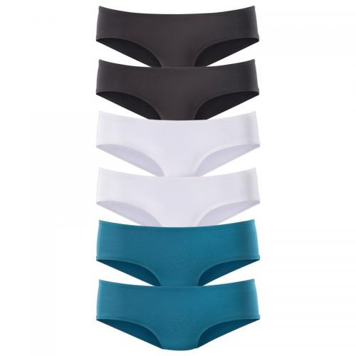 Vivance - Lot de 6 slips taille basse en microfibre coton stretch femme Vivance - Bleu - Promotions Sous-vêtements femme