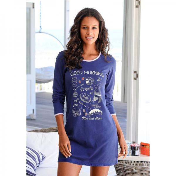 nouveaux articles design intemporel meilleur service Lot de 2 chemises de nuit manches longues en coton Vivance femme -  Multicolore 9 Avis
