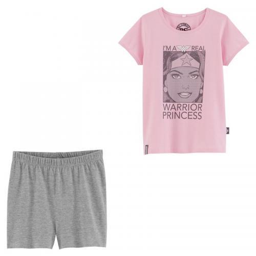 530071b5a09b4 Wonder Woman - Pyjacourt fille imprimé Wonder Woman en 2 pièces - Gris -  Pyjama