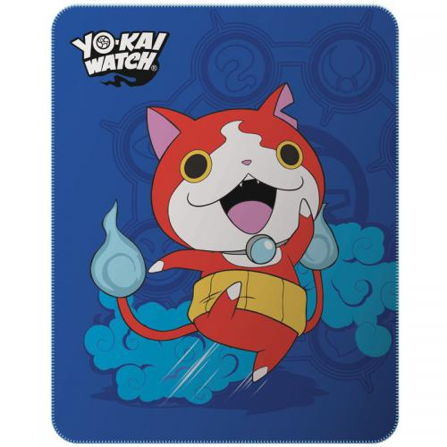Yo-kai Watch - Plaid polaire enfant Yo-Kai Watch Gang - Bleu - Linge de maison