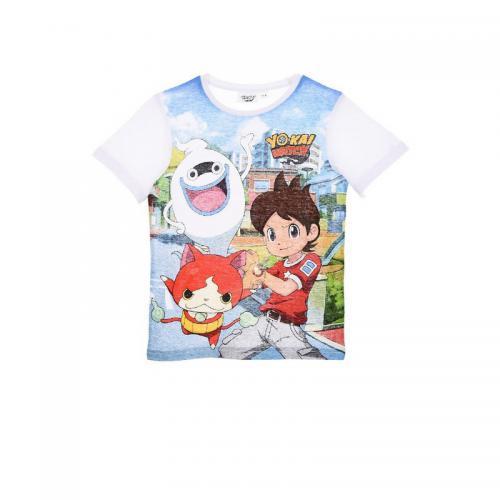 Yokai - T-shirt manches courtes garçon Yo-kai Watch - Blanc - Vêtements 2da4e781eb2