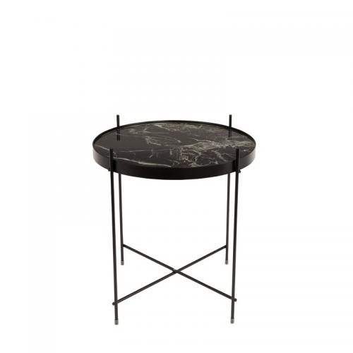 Zuiver - Table basse guéridon Cupid Marble Zuiver - Noir - Tables basses