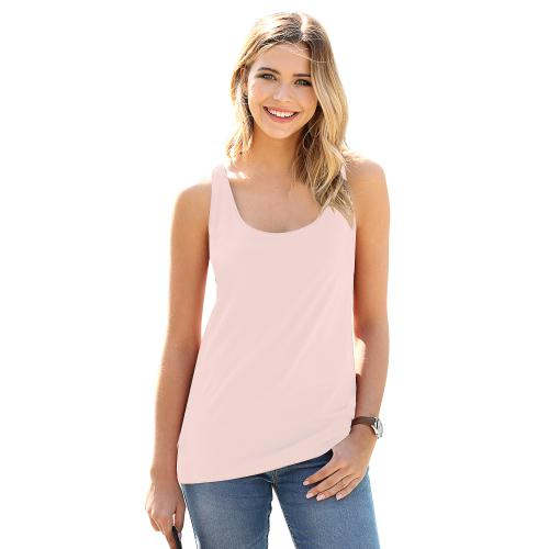 Venca - Tee-shirt larges bretelles encolure arrondie femme Rose - Vetements femme rose