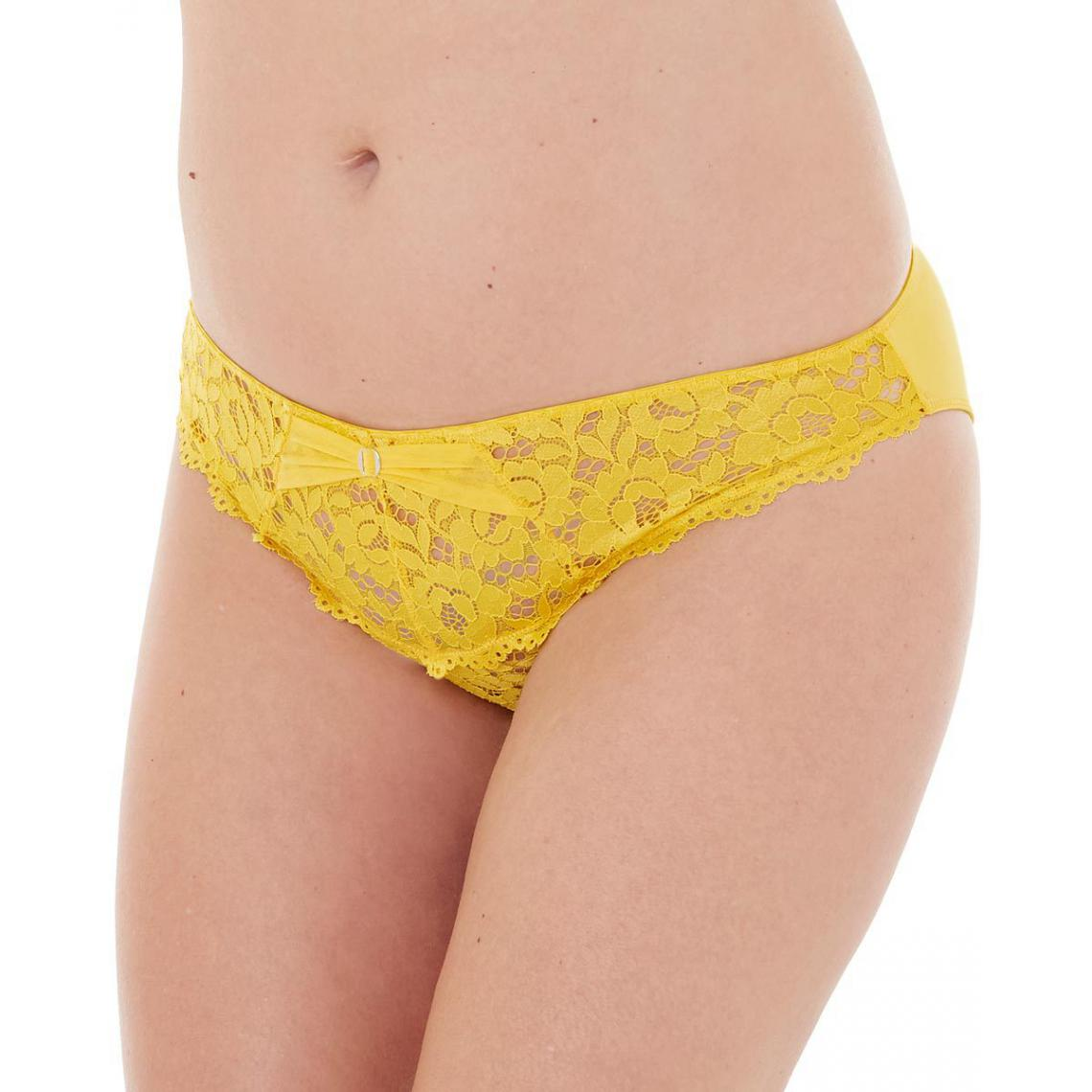 Culotte jaune Paradoxe POMM'POIRE-jaune