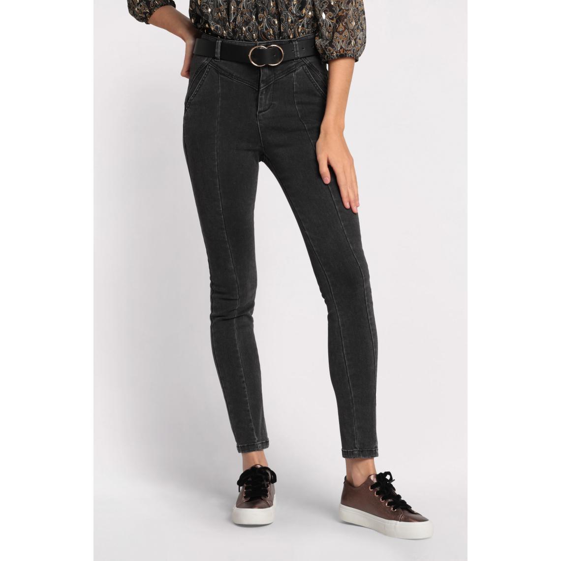 Jeans skinny couture fantaisie - Cache cache - Modalova