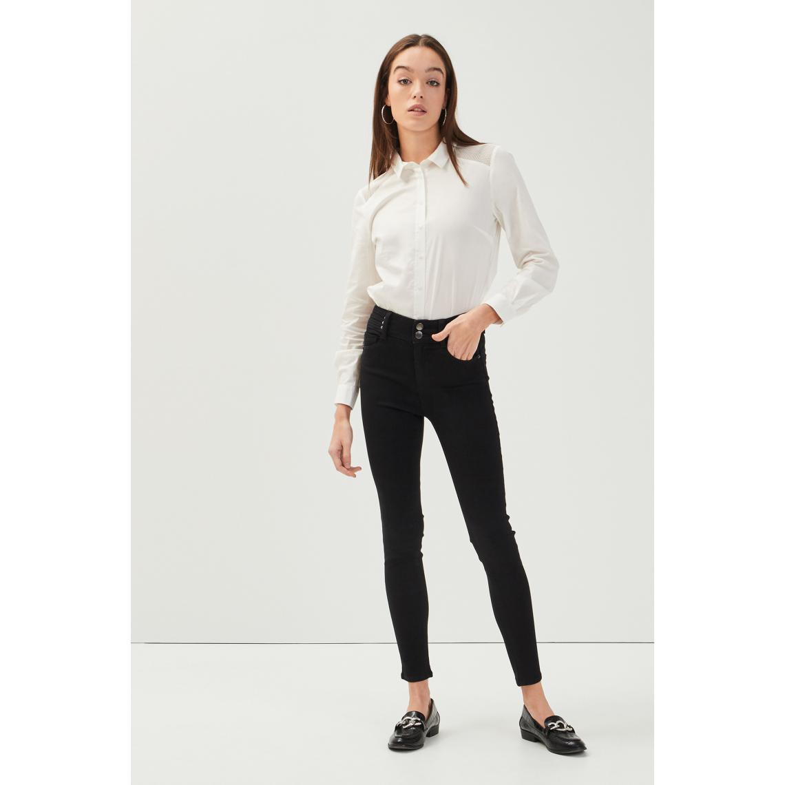 Jeans skinny détails rivets 7Hppv