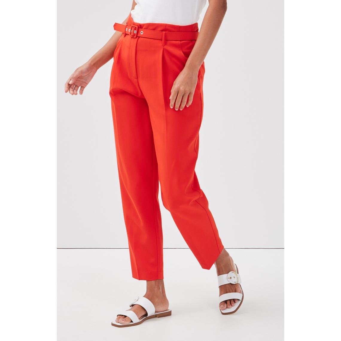 Pantalon droit ceinturé - Cache cache - Modalova