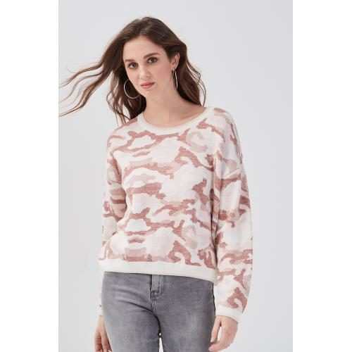 Cache Cache - Pull col rond - Vetements femme rose