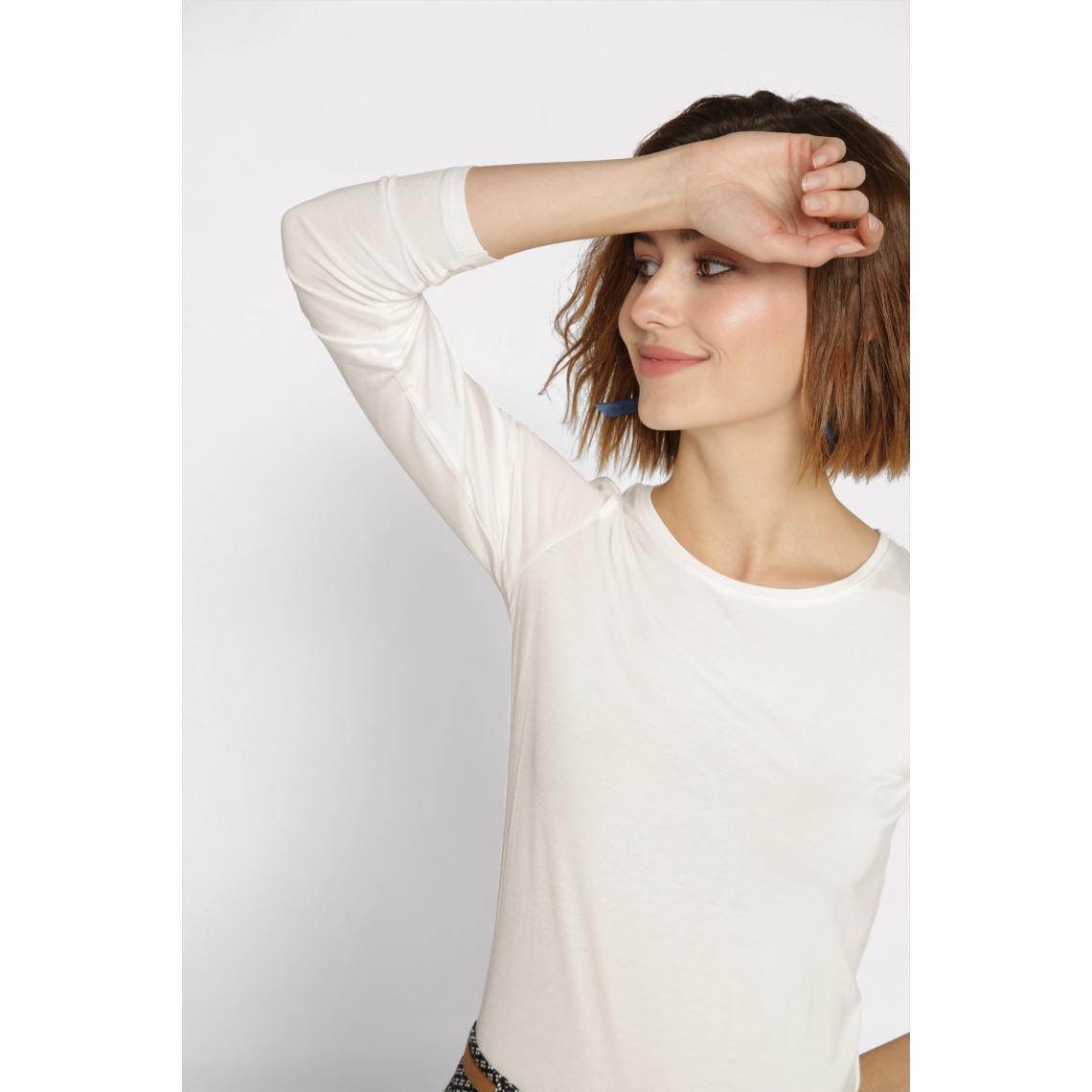 T-shirt uni à manches longues - Cache cache - Modalova