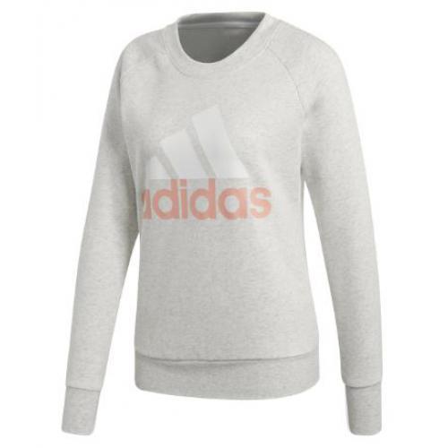 72666dd636c58 Adidas Performance - Sweat-shirt manches longues Essential Adidas Originals  femme - Gris et Rose