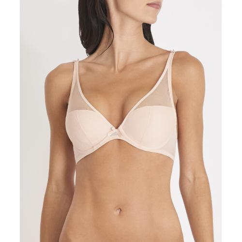Aubade - Soutien-gorge triangle plunge nude - Lingerie sexy