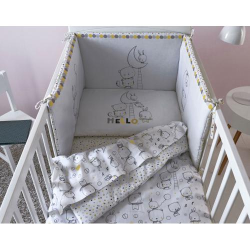 Becquet - Housse de couette bébé moon Becquet - Blanc - Linge de lit bébé dcf261910f91