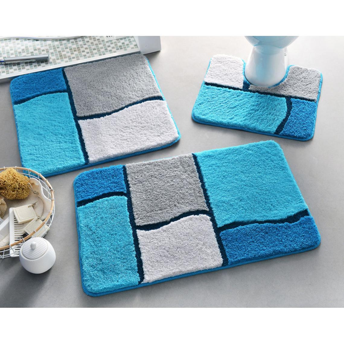 Tapis de bain GLASGOW - bleu   3 SUISSES