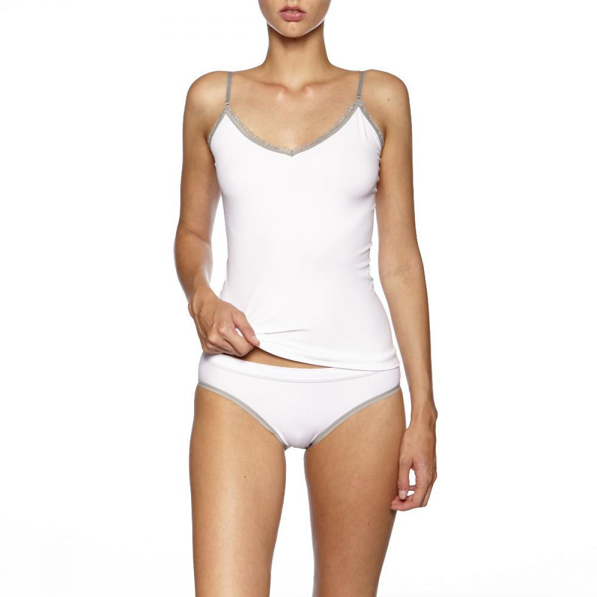 Lot de 2 culottes blanc et gris - Billet Doux - Modalova