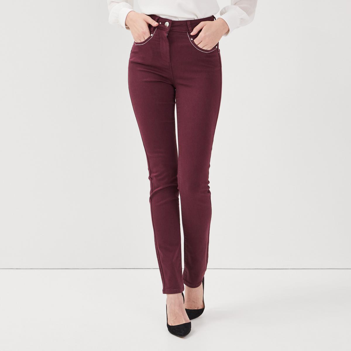 Pantalon ajusté taille haute - 3 suisses - Modalova