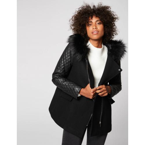 Morgan - Manteau ample à capuche - Promos vêtements femme