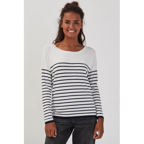 Cache cache - Pull col rond dos ouvert - C 6254397 pulls col rond femme.htm