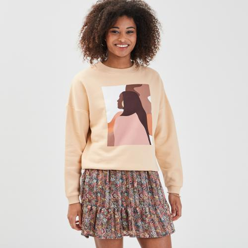 Cache cache - Sweat col rond - Sweat femme