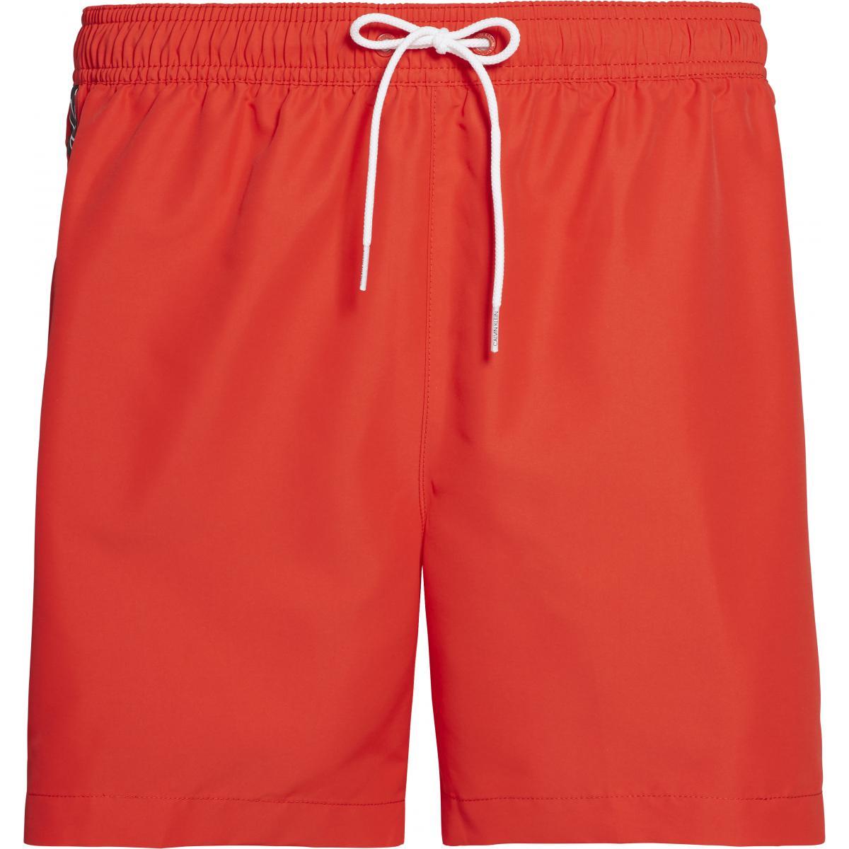 Short de bain mi-long rouge - Calvin Klein Underwear - Modalova