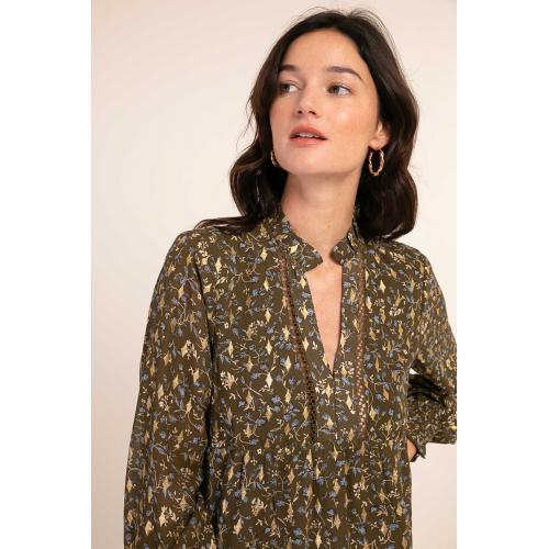 Cherry Paris - Blouse imprimée Talwood - Brillance Absolue