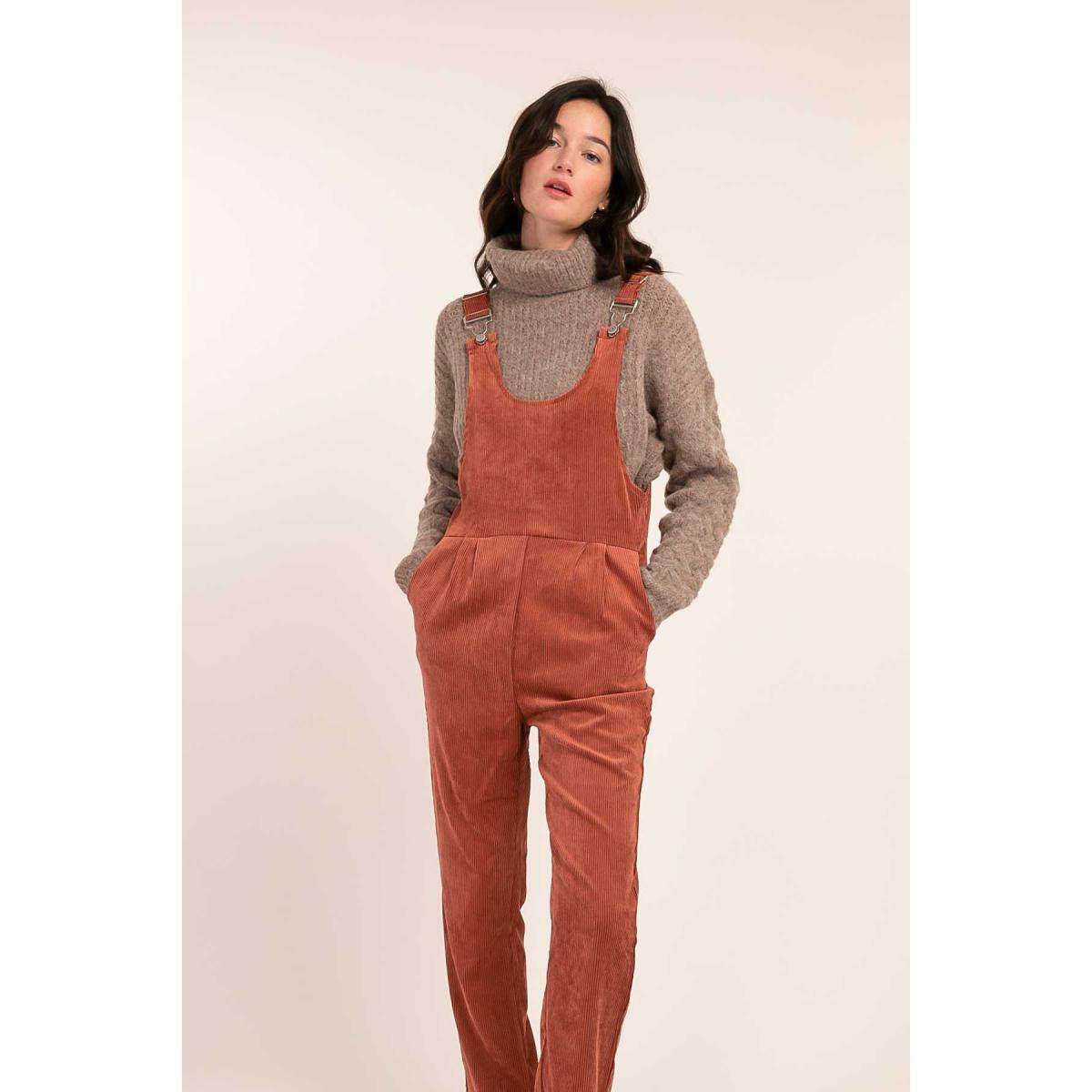 Salopette pantalon en velours Jaffa - Cherry Paris - Modalova