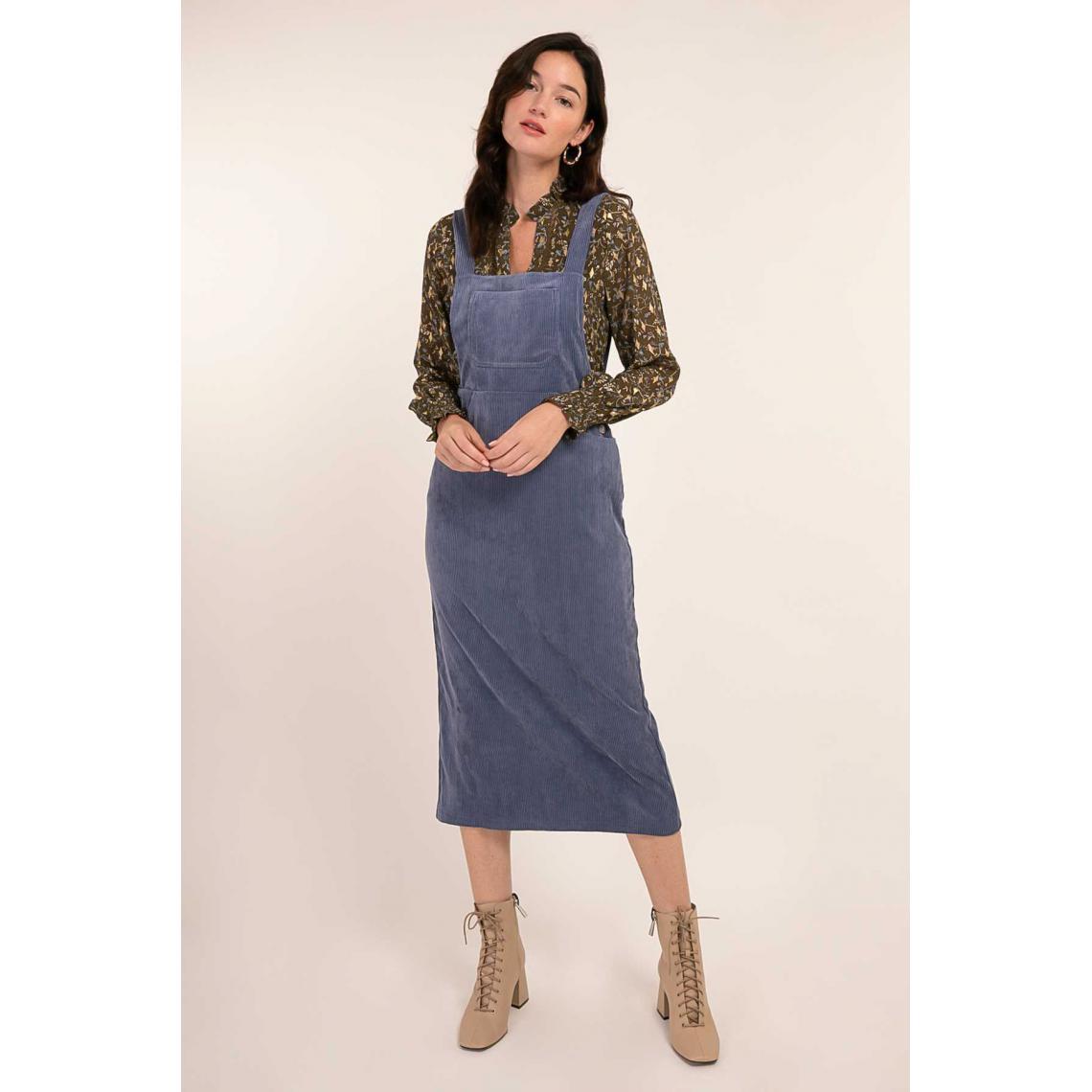 Salopette robe en velours Joaneta - Cherry Paris - Modalova
