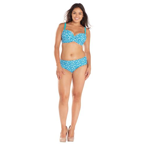 Shorty de bain bleu Curvy Kate Maillot
