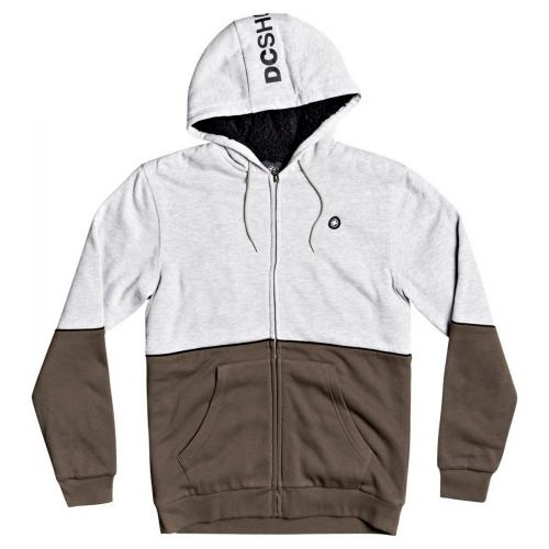 Dc Shoes - Sweat shirt bicolore blanc / kaki - Pull / Gilet / Sweatshirt homme